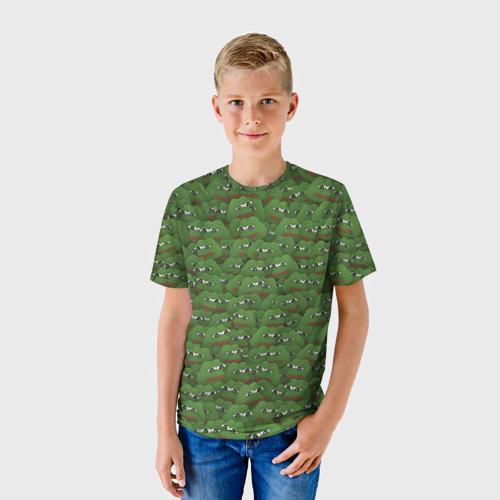 Детская футболка 3D Грустные лягушки