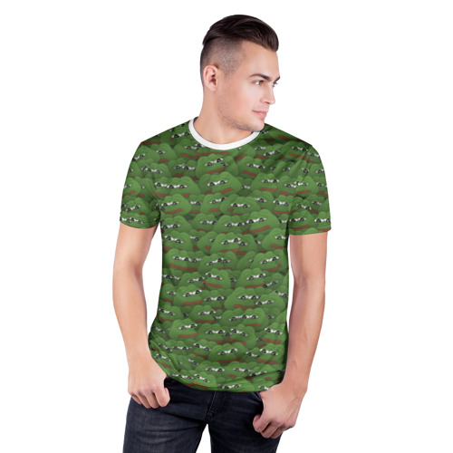 Мужская футболка 3D спортивная  Фото 03, Грустные лягушки