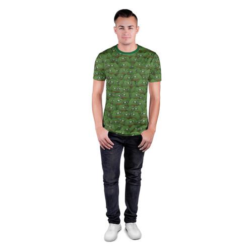 Мужская футболка 3D спортивная Грустные лягушки Фото 01