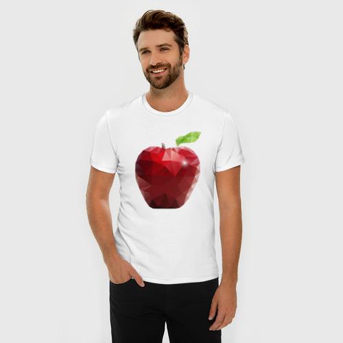 Мужская футболка премиум  Фото 03, Яблоко