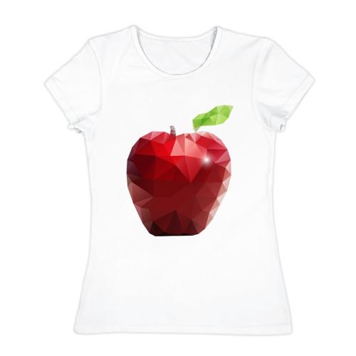 Женская футболка хлопок  Фото 01, Яблоко