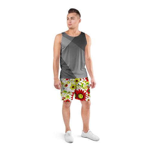 Мужские шорты 3D спортивные  Фото 04, Хохлома 1
