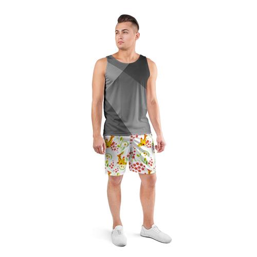 Мужские шорты 3D спортивные  Фото 04, Хохлома 3