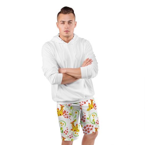 Мужские шорты 3D спортивные  Фото 05, Хохлома 3
