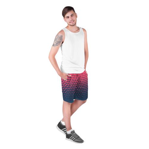 Мужские шорты 3D Узор из треугольников Фото 01