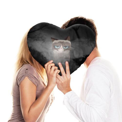 Подушка 3D сердце  Фото 03, Grumpy Cat