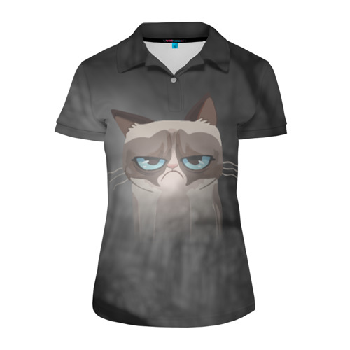 Женская рубашка поло 3D Grumpy Cat