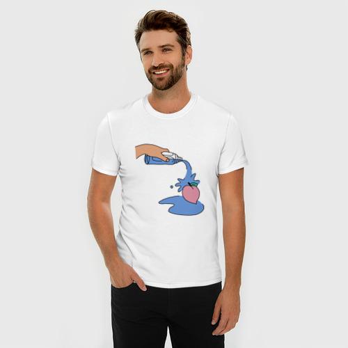 Мужская футболка премиум  Фото 03, peach water