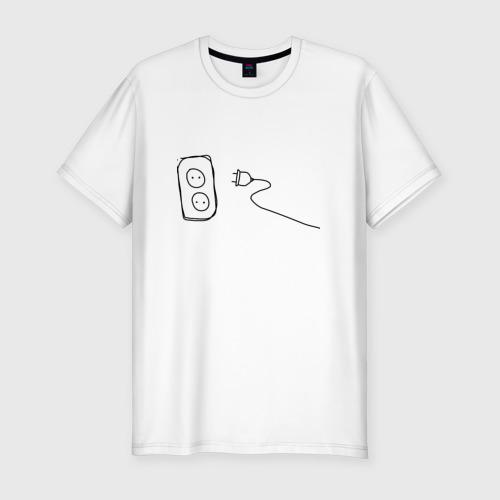 Мужская футболка премиум  Фото 01,  power socket