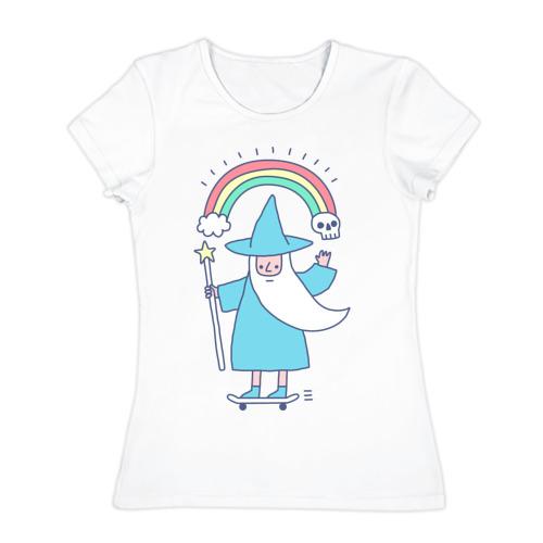 Женская футболка хлопок skate mage