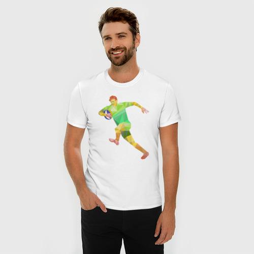 Мужская футболка премиум  Фото 03, Регбист