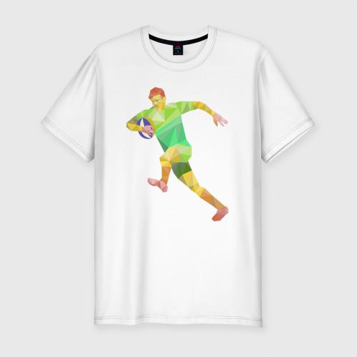 Мужская футболка премиум  Фото 01, Регбист