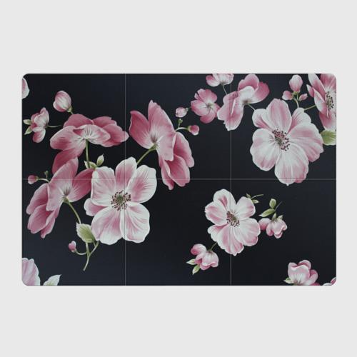 Магнитный плакат 3Х2  Фото 01, Цветы на черном фоне