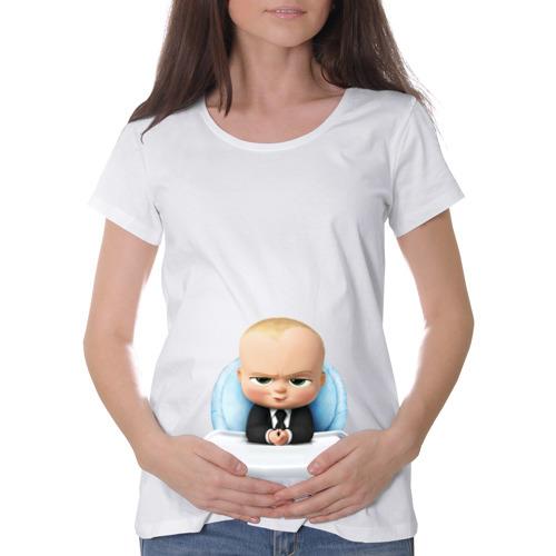 Футболка для беременных хлопок Малыш директор