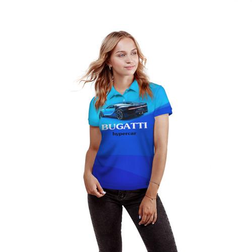 Женская рубашка поло 3D  Фото 03, Bugatti hypercar