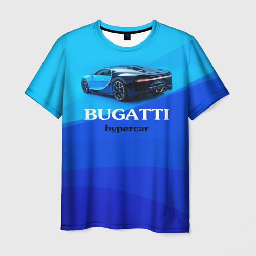 Мужская футболка 3D Bugatti hypercar Фото 01