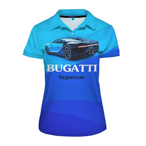 Женская рубашка поло 3D  Фото 01, Bugatti hypercar
