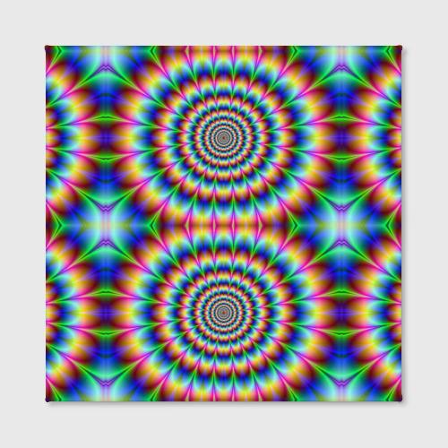 Холст квадратный  Фото 02, Grazy fractal