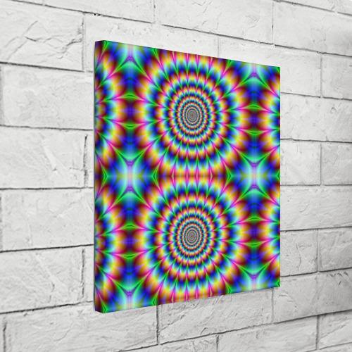 Холст квадратный  Фото 03, Grazy fractal