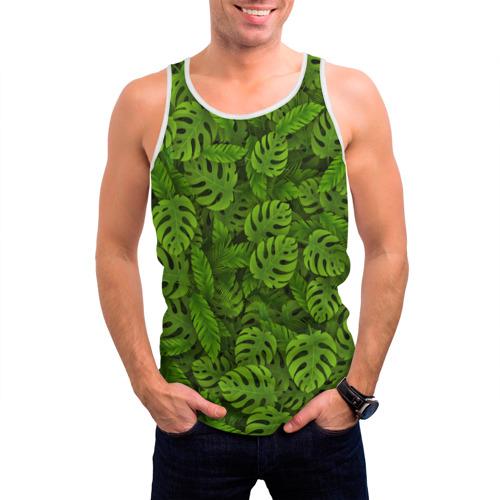 Мужская майка 3D  Фото 03, Тропические листья