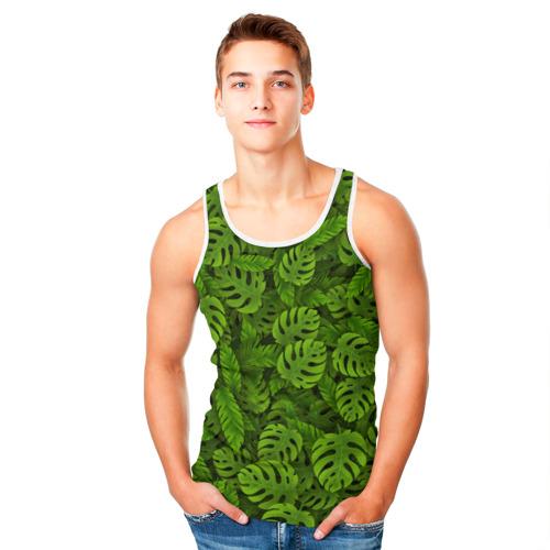 Мужская майка 3D  Фото 05, Тропические листья