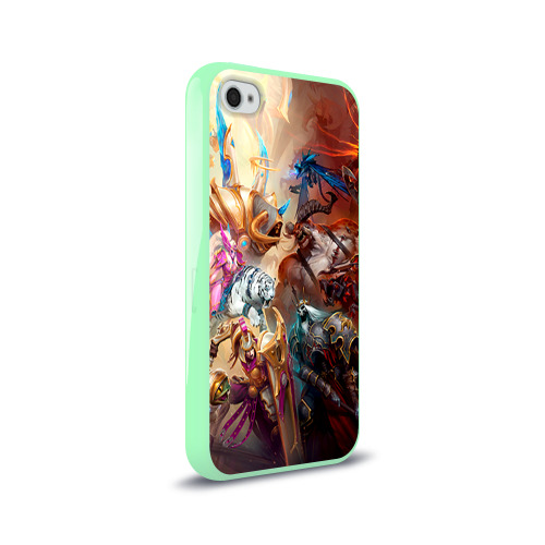 Чехол для Apple iPhone 4/4S силиконовый глянцевый HotS Фото 01