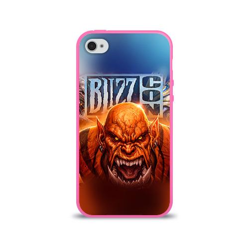 Чехол для Apple iPhone 4/4S силиконовый глянцевый BlizzCon 1 Фото 01
