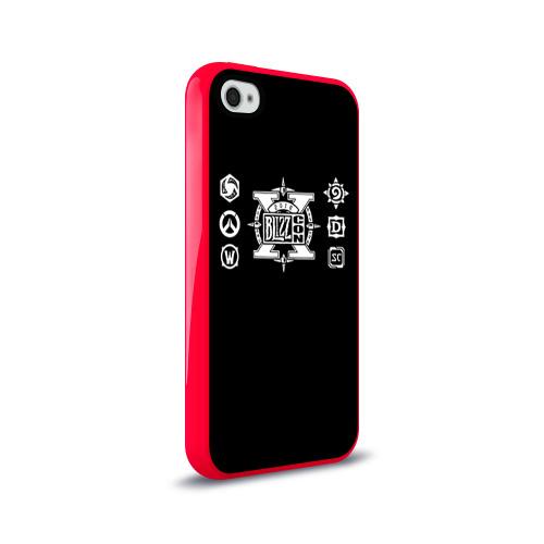 Чехол для Apple iPhone 4/4S силиконовый глянцевый BlizzCon 4 Фото 01