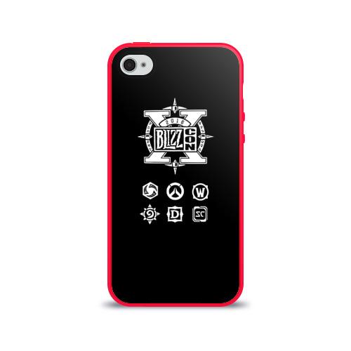 Чехол для Apple iPhone 4/4S силиконовый глянцевый BlizzCon 5 Фото 01