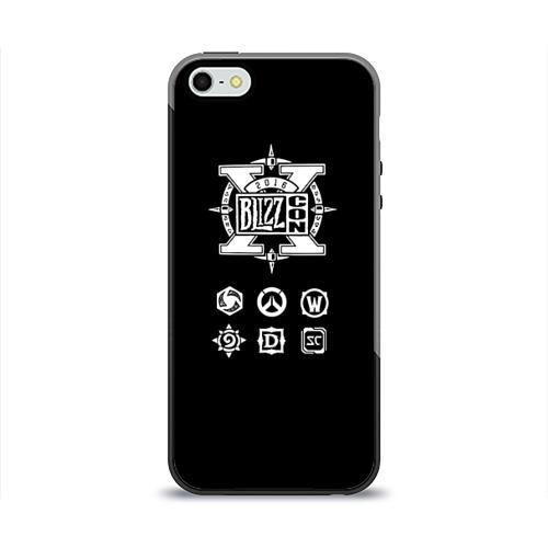 Чехол для Apple iPhone 5/5S силиконовый глянцевый  Фото 01, BlizzCon 5