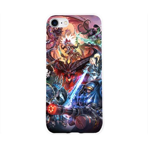 Чехол для Apple iPhone 8 силиконовый глянцевый Blizzard 7 Фото 01