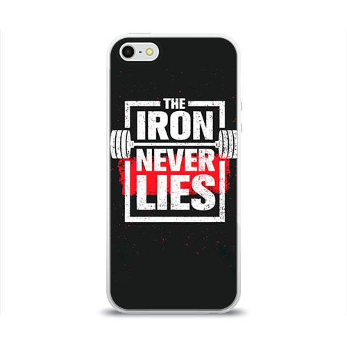 Чехол для Apple iPhone 5/5S силиконовый глянцевый  Фото 01, Bodybuilding: Железо не лжёт
