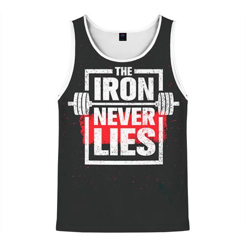 Мужская майка 3D Bodybuilding: Железо не лжёт