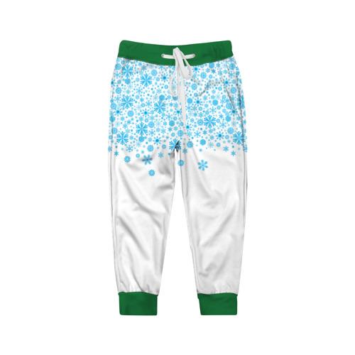 Детские брюки 3D Снежинки