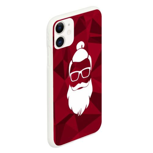 Чехол для iPhone 11 матовый Санта хипстер Фото 01