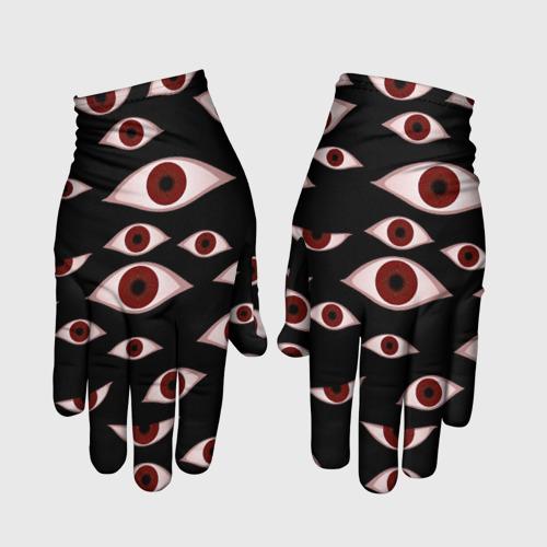 Перчатки 3D Глаза Фото 01