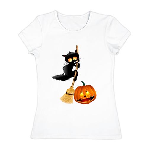 Женская футболка хлопок  Фото 01, Хэллоуин