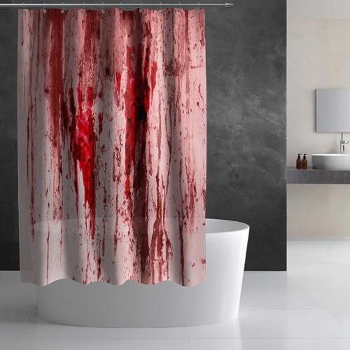 Штора 3D для ванной  Фото 03, Отпечаток
