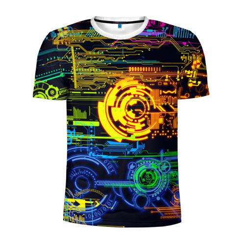 Мужская футболка 3D спортивная Техно