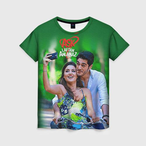 Женская футболка 3D Любовь не понимает слов 1 M фото