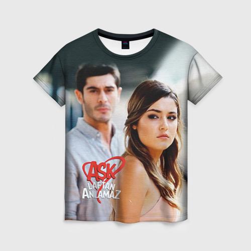 Женская футболка 3D Любовь не понимает слов 3 XXXL фото