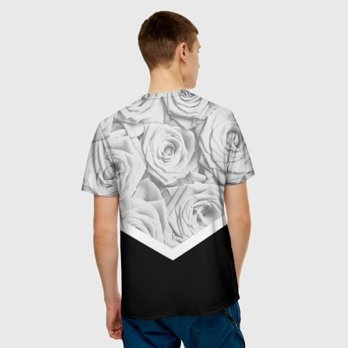 Мужская футболка 3D  Фото 02, Розы