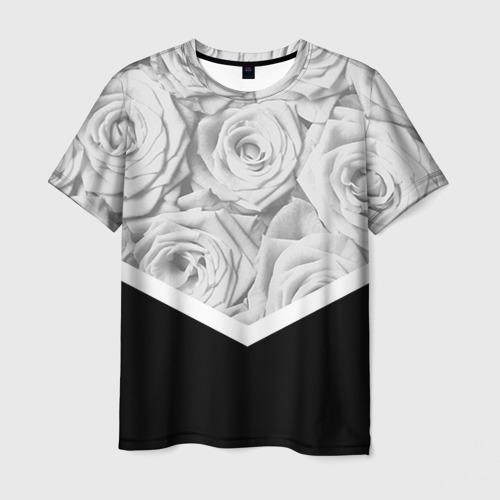 Мужская футболка 3D  Фото 03, Розы
