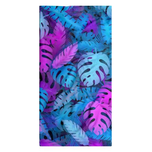 Бандана-труба 3D  Фото 07, Сине-розовые тропики