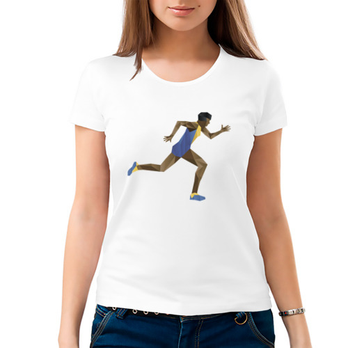 Женская футболка хлопок  Фото 03, Бегун 2