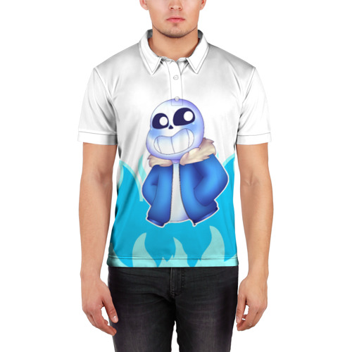 Мужская рубашка поло 3D  Фото 03, Sans undertale
