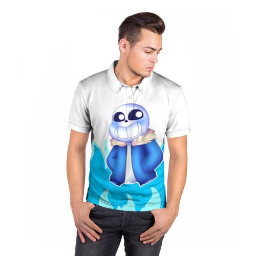 Мужская рубашка поло 3D  Фото 05, Sans undertale