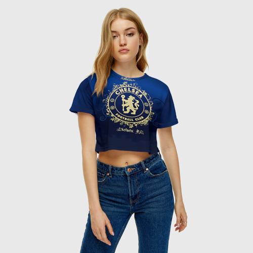 Женская футболка 3D укороченная  Фото 04, Chelsea
