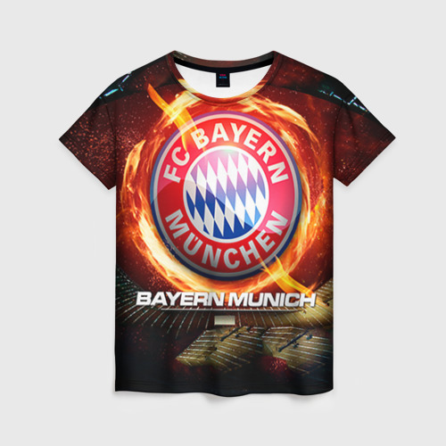 Женская футболка 3D Bayern