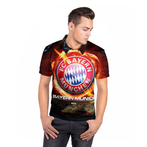 Мужская рубашка поло 3D  Фото 05, Bayern